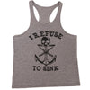 Man Printed Skull Anchor Tank Top