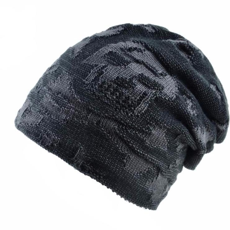 Skull Winter Knitted Wool Slouchy Hat