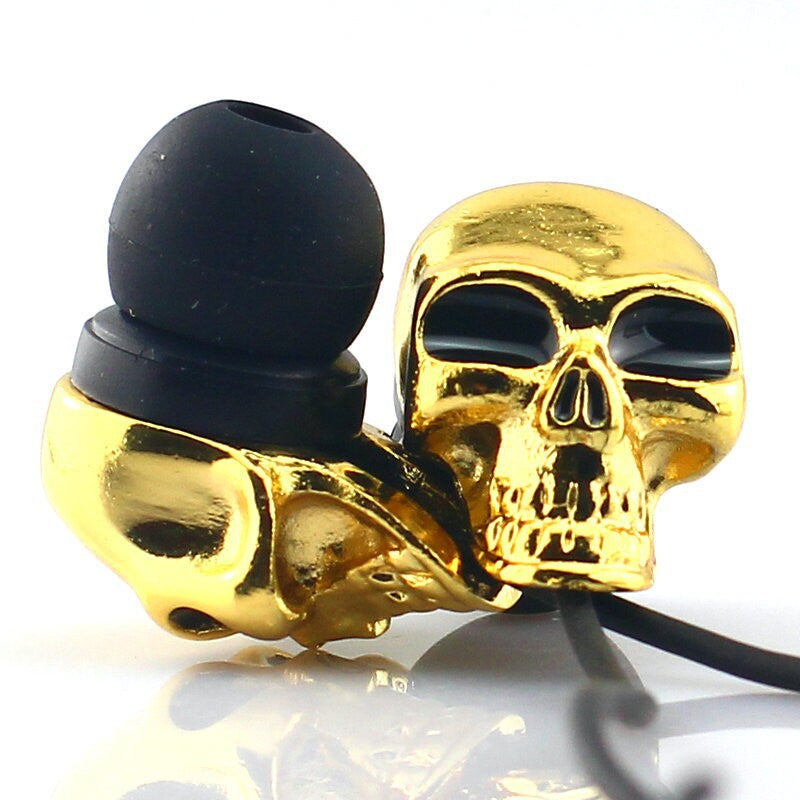 New Cool Skull Bass Stereo 3.5mm In-Ear Earbuds