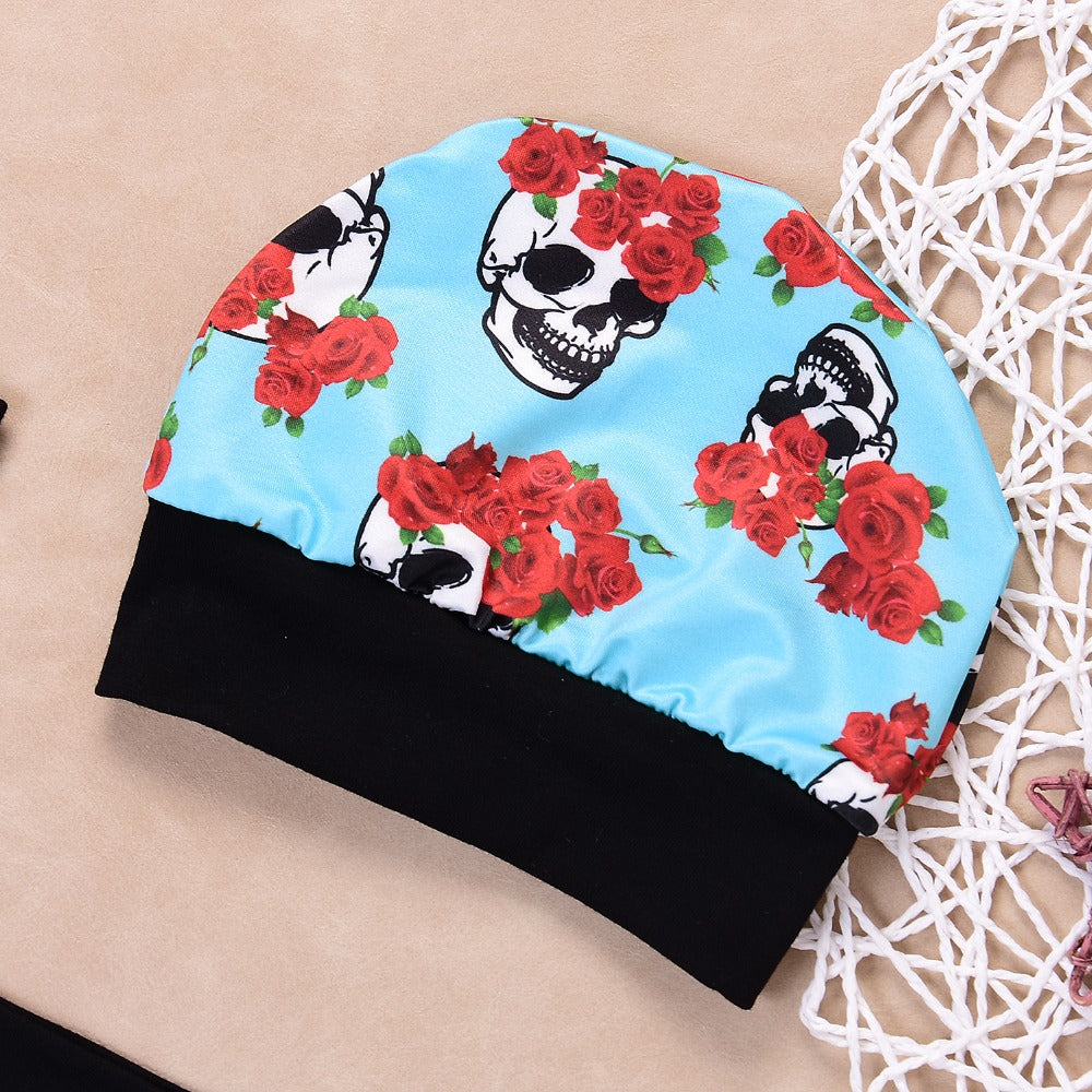 4Pcs Skull Printed Baby Outfit