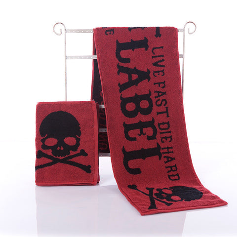 Red Skull  Sports Towel Absorbent Towel  Quick-Drying