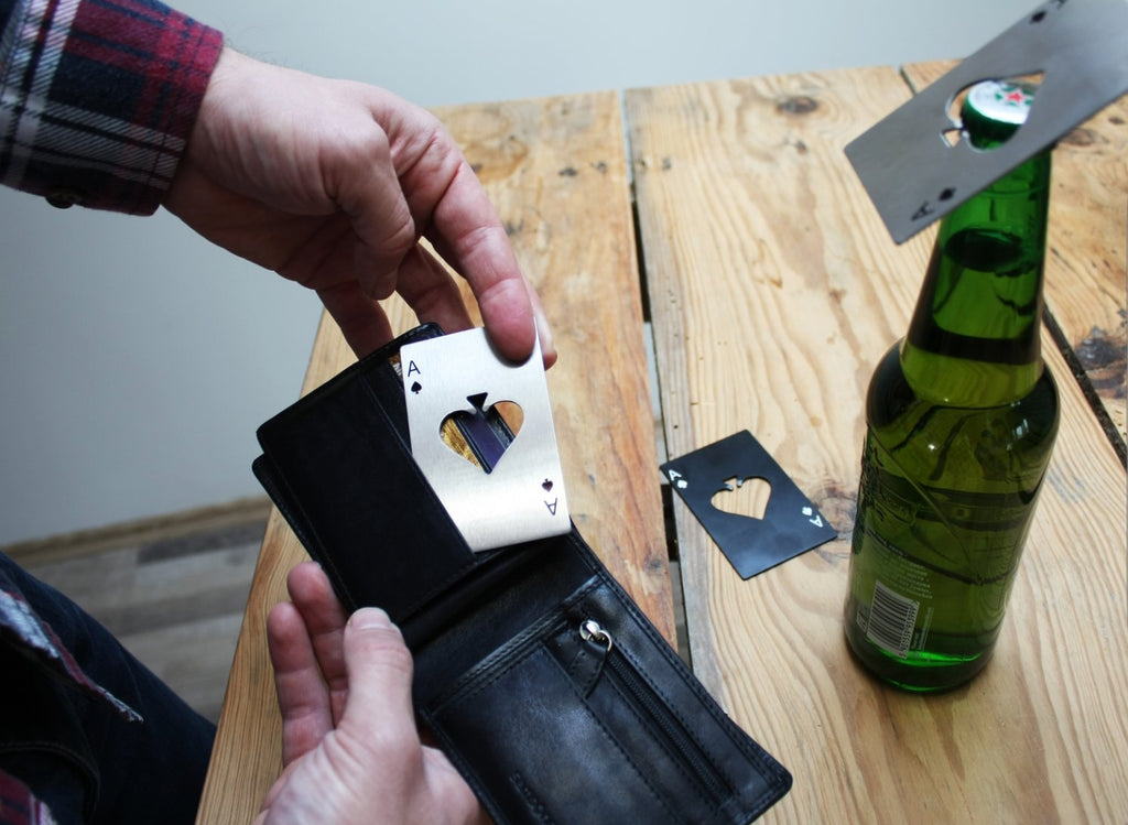 Ace Poker Playing Card Bottle Opener