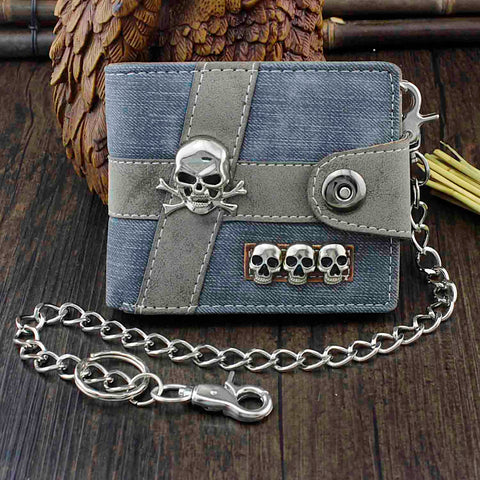 Skull Wallet With Chain