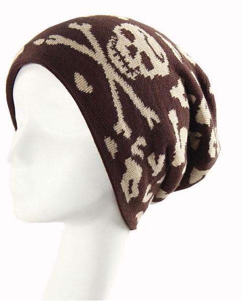 Slouchy Crossbones Winter Warm Beanie