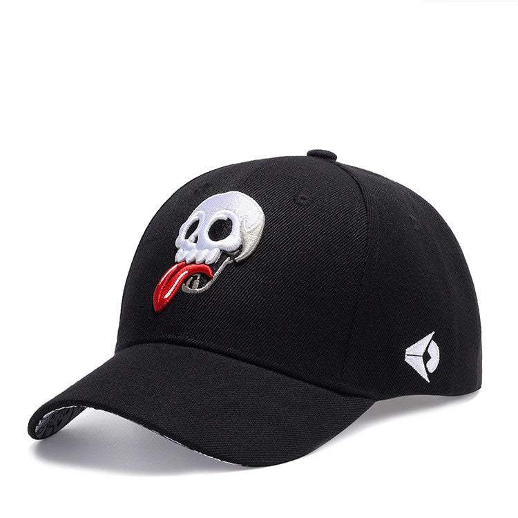 Baseball Skull Embroidery Hats