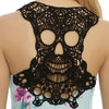 Skull head lace Camisole tank
