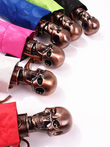 Brass Skull Head Umbrella