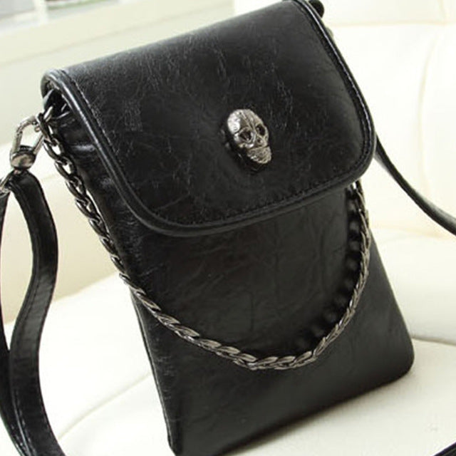 Skull Pattern Casual Mobile Phone Messenger Crossbody Bag