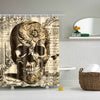 Skull Print Shower Curtains
