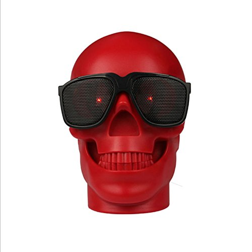 Skull Head Shape Portable Wireless Bluetooth Speaker  with FM radio