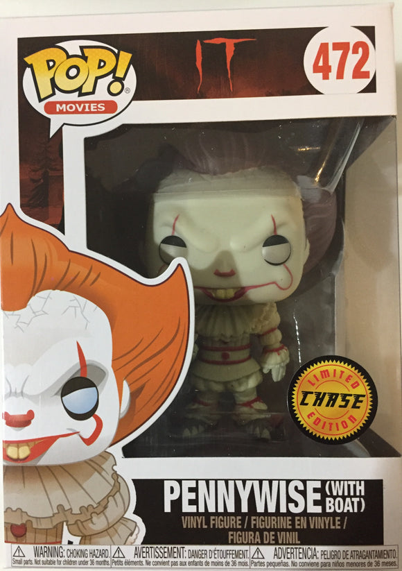Funko POP! Horror Movie IT: Pennywise w/ Boat VAULTED CHASE EDITION w/ Protector