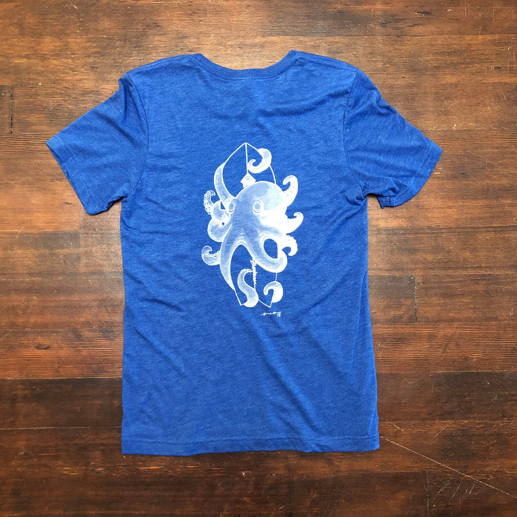 Short Sleeve, Soft Deel, Octopus Tee