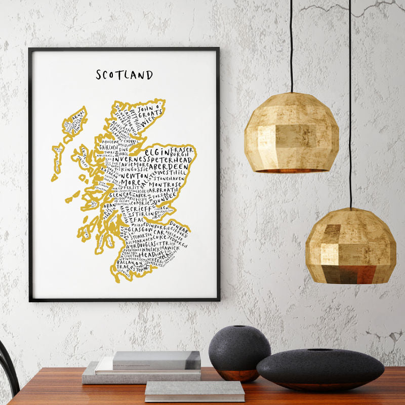 map typography prints