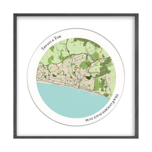 Load image into Gallery viewer, Personalized Circular Map Print
