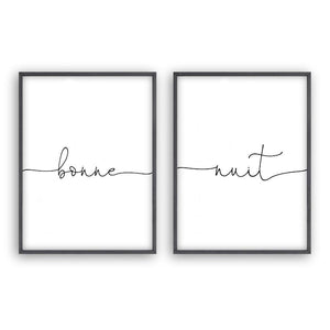 Bonne Nuit - Set Of 2 Prints - Blim & Blum