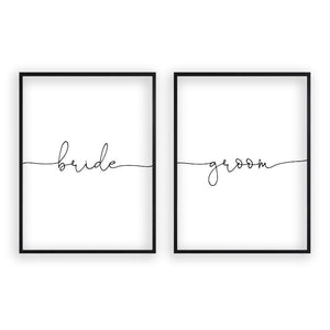 Bride Groom - Set Of 2 Prints - Blim & Blum