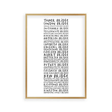 Load image into Gallery viewer, Bridges Of London Typography Print - Blim & Blum