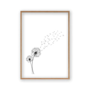 Dandelion In The Wind Print - Blim & Blum