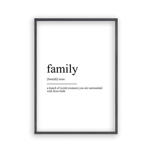 Family Definition Print - Blim & Blum
