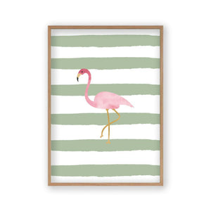 Flamingo Watercolor Print - Blim & Blum