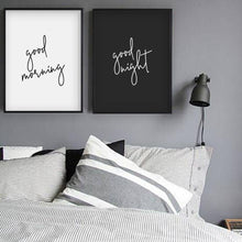 Load image into Gallery viewer, Good Morning Good Night - Set Of 2 Prints - Blim & Blum