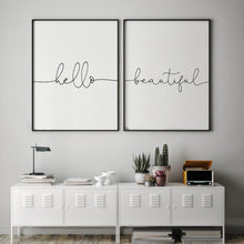 Load image into Gallery viewer, Hello Beautiful - Set Of 2 Prints - Blim & Blum