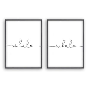 Inhale Exhale - Set Of 2 Prints - Blim & Blum