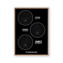 Load image into Gallery viewer, Personalized Family Star Maps Print