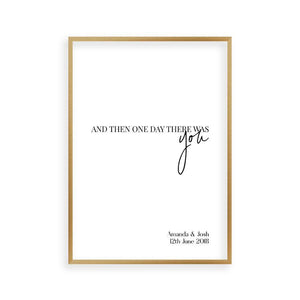 Personalized And Then One Day There Was You Names Print - Blim & Blum