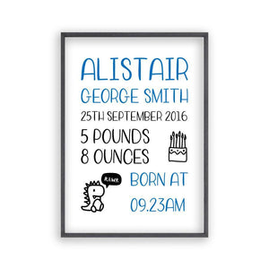 Personalized Baby Birth Print - Blim & Blum