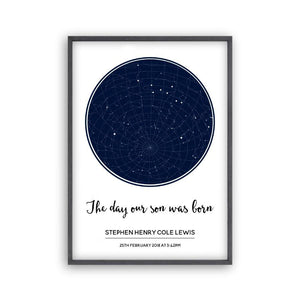 Personalized Stars Day You Were Born Baby Print - Blim & Blum