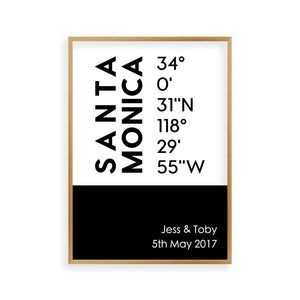 Personalized Coordinates Location Print - Blim & Blum