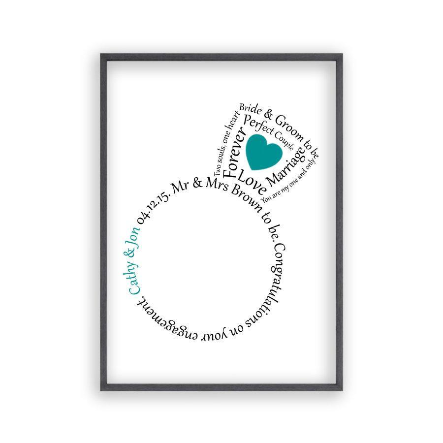 Personalized Engagement Ring Heart Print - Blim & Blum