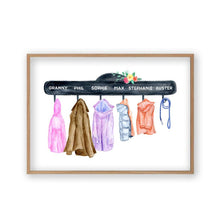 Load image into Gallery viewer, Personalized Family Names Coat Print - Blim & Blum