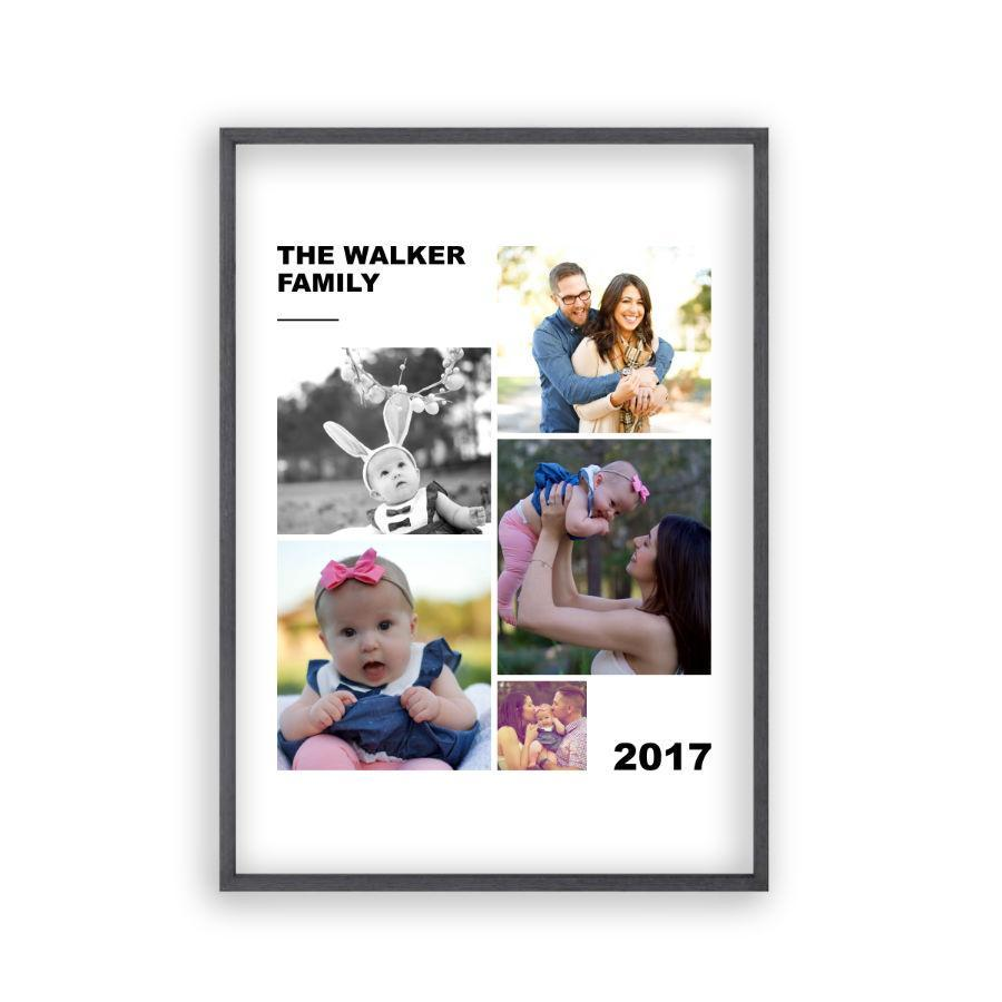Personalized Family Photographs Collage Print - Blim & Blum