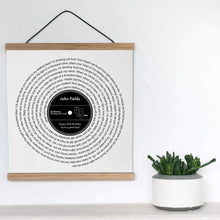 Load image into Gallery viewer, Personalized Favorite Song Lyrics Vinyl Record Print - Blim & Blum