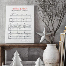 Load image into Gallery viewer, Personalized Favourite Song Music Sheet Notes Print - Blim & Blum