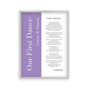 Personalized First Dance Wedding Song Lyrics Music Print - Blim & Blum