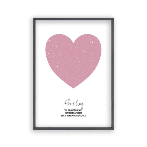 Personalized Heart Star Map Print - Blim & Blum