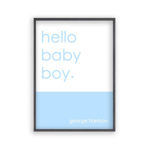 Personalized Hello Baby Boy Print - Blim & Blum