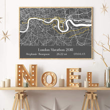 Personalized London Marathon Map Print - Blim & Blum