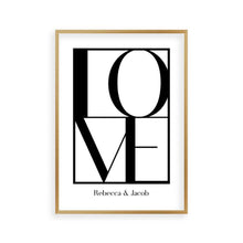 Load image into Gallery viewer, Personalized Love Print - Blim & Blum