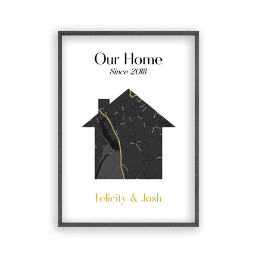 Personalised Map Home Print - Blim & Blum