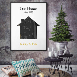 Personalized Map Home Print - Blim & Blum