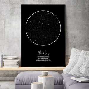 Personalized Star Map Night Sky Print - Blim & Blum