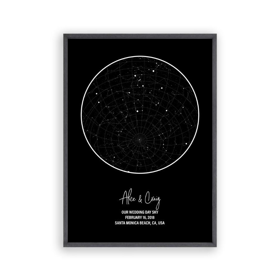 Personalized Star Map Night Sky Print on star map poster, constellation map poster, michigan lighthouse map poster,