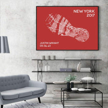 Load image into Gallery viewer, Personalized Marathon Or Running Race Location Map Print - Blim & Blum