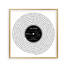 Load image into Gallery viewer, Personalized Memorial Song Music Lyrics Vinyl Print - Blim & Blum