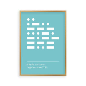Personalized Morse Code Message Print - Blim & Blum