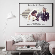 Load image into Gallery viewer, Personalized Photo Sound Wave Wedding Anniversary Print - Blim & Blum